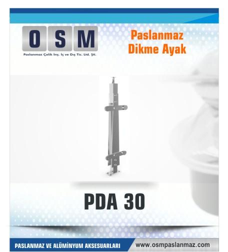 PASLANMAZ DİKME AYAK PDA 030