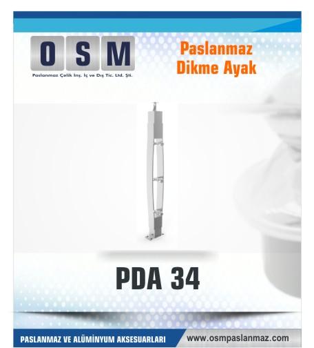 PASLANMAZ DİKME AYAK PDA 034