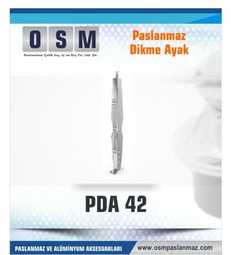 PASLANMAZ DİKME AYAK PDA 042