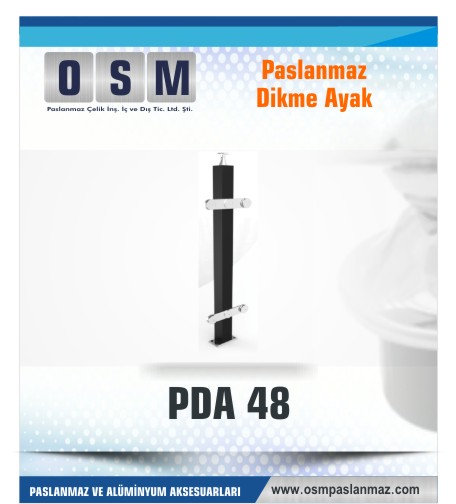 PASLANMAZ DİKME AYAK PDA 048